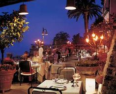 Rosellinis, Ravello, Italy. Eat divine Mediterranean 1,000 feet above the Amalfi Coast, mid-March to October