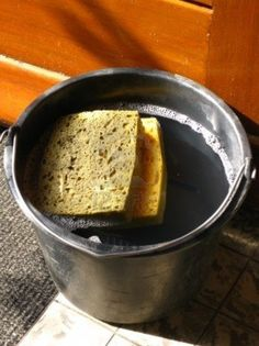 Water & sponge to demonstrate the Holy Spirit