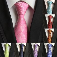Classic New Fashion Men s JACQUARD WOVEN Necktie Party Tie Silk 100% Wedding