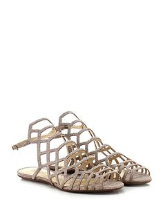 SCHUTZ - Sandalo basso - Donna - Sandalo basso in eco pelle effetto glitter con cinurino su retro e suola in gomma. Tacco 15. - CIPRIA - € 140.00