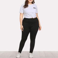 807c07ca90bb6 2018 plus size black yoga pants elastic sports wear women fitness big size  leggings XL-5XL