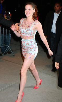 Kristen Stewart really, really likes to wear see-through clothing.....and it's so cute in her!
