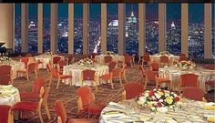 The Windows on the World dining room, on the 107th floor of the North Tower.