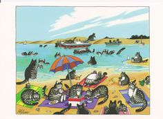 Cats at the Beach by B. Kliban