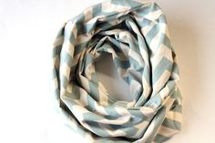 Chevron Circle Scarf  Light Blue and Cream by practicalimpact, $25.00