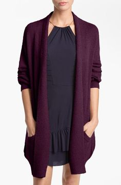 Cozy chic in an oversize knit cardigan.