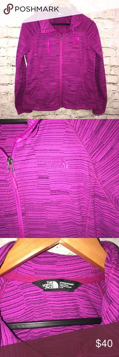 The North Face Large Purple Zip Up Hooded Jacket The North Face Women's Large Purple Zip Up Hooded Lightweight Jacket   Measurements: Armpit to Armpit (Approximately): 20 Length (Approximately): 25  Check out my other listings! The North Face Jackets & Coats