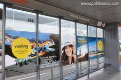 Vueling, Marquesinas del Tranvía de Tenerife, ¿te interesa? Contacta con nosotros. #rotulacion #vehiculo #tranvia #publiservic #mupis #marquesina Parc Guell, Barcelona, Tenerife, Divider, Room, Furniture, Home Decor, Walks, Advertising