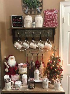 Christmas Hot Chocolate, Christmas Coffee, Christmas Love, Country Christmas, All Things Christmas, Christmas Crafts, Christmas Decorations, Holiday Decor, Christmas Ideas