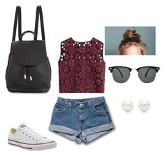 """""""Amusement park outfit"""" by brianna-diaz2000 on Polyvore featuring Alberta Ferretti, Converse, rag & bone, Ray-Ban and Tiffany & Co."""