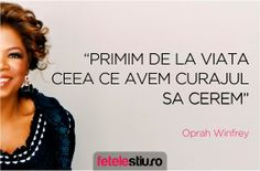 Cele mai frumoase citate Oprah Winfrey, Beautiful Words, Qoutes, Salons, Anna, Wisdom, Inspirational, Thoughts, Motivation