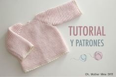 Jersey De Bebé Leo- Also English Pattern - Diy Crafts Baby Knitting Patterns, Baby Sweater Knitting Pattern, Baby Boy Knitting, Knitting For Kids, Baby Patterns, Free Knitting, Baby Cardigan, Diy Crochet Cardigan, Baby Pullover