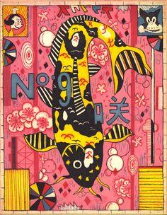 Tiger Koi by Tony Fitzpatrick. Love love love.
