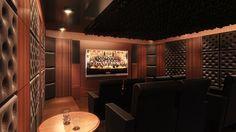 Home Theater utilizing Artnovion Acoustic Panels