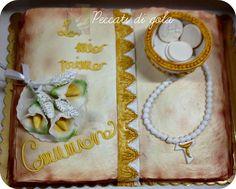 First communion cream cake ...