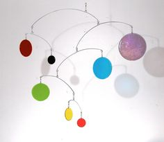 Glass Mobile - 4feet - Primary Colors by LeahPellegrini on Etsy https://www.etsy.com/listing/5258035/glass-mobile-4feet-primary-colors