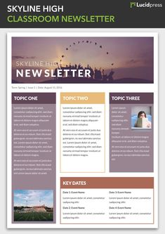 Free Newsletter Templates Online Branding Design Pinterest - Online newsletter templates
