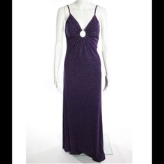 """Maxi SCOOP PURPLE SHIMMER STRETCH DRESS SZ S   SLEEVE: SPAGHETTI STRAP NECKLINE: V-NECK PRINT: SOLID EMBELLISHMENT: NONE LINING: LINED CLOSURE: NONE SIZE:  SMALL (ESTIMATED) COLOR: PURPLE, SHIMMER FABRIC: NO TAG, FEELS LIKE STRETCH BLEND  MEASUREMENTS: BUST: 26"""" WAIST: 24"""" HIPS: 26"""" TOTAL LENGTH: 66"""" ACROSS THE BACK: 13""""   PRE-OWNED: VERY GOOD CONDITION, LIGHT SIGNS OF WEAR, NO MAJOR FLAWS Scoop nyc Dresses Maxi"""