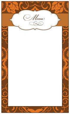 Imprimer carte menu de Noël vierge à imprimer et remplir