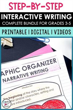 This ULTIMATE WRITING BUNDLE has printable and digital resources as well as 84 mini-lesson videos! Lessons are designed to scaffold through the writing process. Units include sentence structure, paragraph writing, narrative writing, opinion writing, and informative writing. You will find original mentor text, modeling, practice, task cards, scripted lesson plans, interactive notes, self-check slides, quizzes, checklists, rubrics, prompts, forms and so much more. Click to learn more! Argumentative Writing, Paragraph Writing, Narrative Writing, Informational Writing, Opinion Writing, Persuasive Writing, Writing Workshop, Writing Process, English Activities For Kids