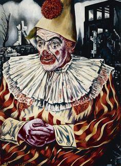 Clown voor ruïnes van Rotterdam (1940 - 1941) Charley Toorop – Kröller-Müller Museum