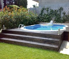 1000 images about piscinas desmontables above ground for Jardines con piscinas desmontables
