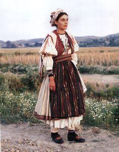 Festive dress of orthodox w. Festive dress of orthodox women. First quarter of XX century. Traditional Fashion, Traditional Dresses, Folk Clothing, Travel Clothes Women, Festival Dress, Folk Costume, Korean Outfits, Womens Fashion, Ethnic