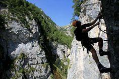 my favorite Via Ferrata, Hias in the #Silberkarklamm in #Ramsau am Dachstein in #Austria
