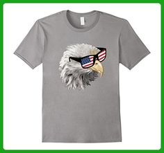 Mens Fourth of July T-Shirt Eagle with American Flag Glasses Tee 3XL Slate - Holiday and seasonal shirts (*Amazon Partner-Link)