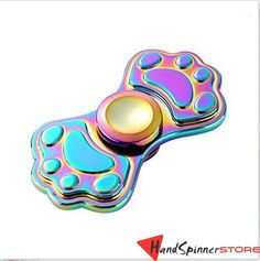 Fidget Spinner Rainbow Dog Footprint Metal Hand Spinner Toy