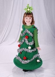 Christmas tree costume for Abi