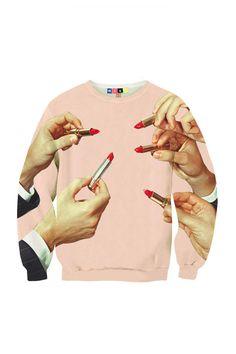 Lipstick Sweatshirt.
