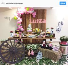Jay D'Event Stylist By:arncamugao design. Country Birthday Party, Cow Birthday, Horse Birthday Parties, Cowboy Birthday Party, Cowgirl Party, Birthday Balloons, Farm Themed Party, Farm Party, Cowgirl Baby Showers