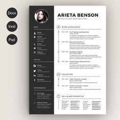 8 Pages Extended Resume CV MS Word http://textycafe.com/best ...