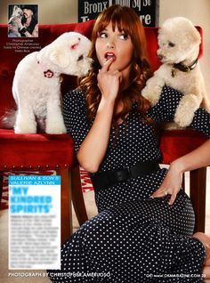This week in my OK! Pets page in OK! magazine we feature the very funny and beautiful Valerie Azlynn from the hit TBS show Sulivan & Son. Pick up a copy today and read about her two rescues.