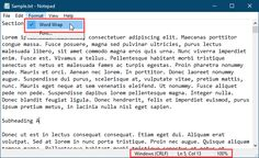 Word wrap enabled with Status Bar showing in Notepad Batch File, Word Wrap, Windows Operating Systems, Filing, Advice, Bar, Words, Simple, Tips