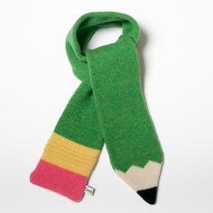 Lana lápiz bufanda de los niños hecho por encargo por saracarr