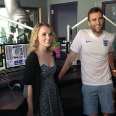 Evanna Lynch and Matthew Lewis❤️ at first glance I thought Matt had an SPQR Tattoo the life of a nerd.