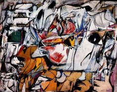 Asheville, 1948 by Willem de Kooning. Abstract Expressionism. abstract