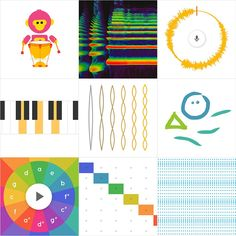 Chrome Music Lab experiment with music Music Words, Art Music, Music Games, Online Music Lessons, Piano, Elementary Music, Music Classroom, Music Theory, Teaching Music
