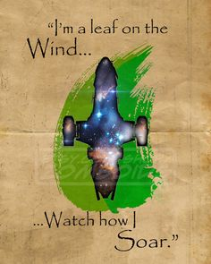I'm a leaf on the wind.
