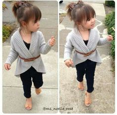 Check out this little Fashionista♥ How Cute is She in this Mini Mom Outfit ❁♥❁