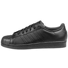 Adidas Superstar Foundation Mens AF5666 Black Shell Toe Shoes Sneakers Size 10