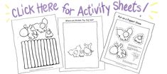 Free downloadable pdf printables for the Chicken, Pig, Cow series