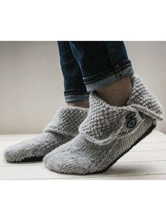 Ravelry: Button Boots pattern by Bekah Knits — Please join the KAL! Knitting Stitches, Knitting Socks, Crochet Socks, Crochet Gifts, Knit Crochet, Ravelry, Over Boots, Aran Weight Yarn, I Cord