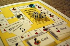 """""""Adventures in Music"""" board game.  Download and print it for free!"""