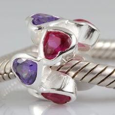 Pink Purple CZ Love Hearts Charm Authentic 925 Sterling Silver Bead Fits Pandora Chamilia Biagi Troll Charms Europen Style Bracelets everbling jewelry,http://www.amazon.com/dp/B008187UOC/ref=cm_sw_r_pi_dp_EpBCrb46EC4940AC