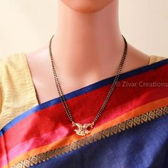 Peacock Short mangalsutra, south jewellery , indian jewellery , ethnic by ZivarCreations on Etsy Silver Jewellery Indian, Gold Jewellery Design, Silver Jewelry, Jewelry Rings, Cz Jewellery, Silver Rings, Egyptian Jewelry, Craft Jewelry, Fashion Jewellery