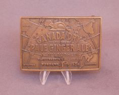 Vintage Canada Dry Ginger Ale belt buckle available at our eBay store! $25