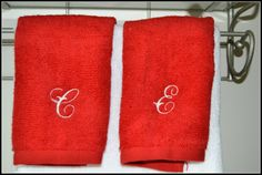 Monogram Bathroom Towel, Custom, Personalized Towel by StaziesStitchsNStuff on Etsy